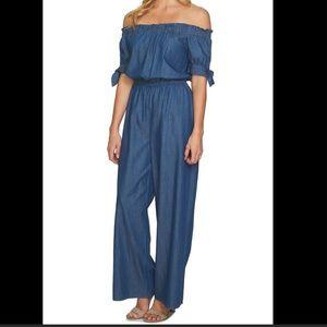 Cece Chambray Cotton Jumpsuit